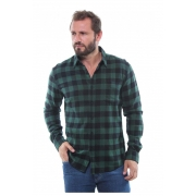 Camisa Masculina Flanela Xadrez Cor Verde