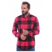 Camisa Masculina Flanela Xadrez Cor Vermelha