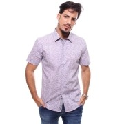 Camisa Masculina Manga Curta Estampada Crocker