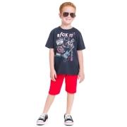 Conjunto Infantil Menino Rock It Cinza
