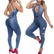 Macacão Jeans Feminino Cintura Perfeita Rhero Jeans