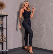 Macacão longo jeans Pit Bull Jeans