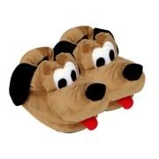 Pantufa 3D Personagem Cão Pluto Marrom