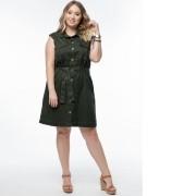 Vestido Jeans Verde Militar Plus Size