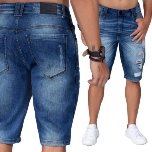 Bermuda  Jeans Masculina Destroyer Pit Bull Jeans