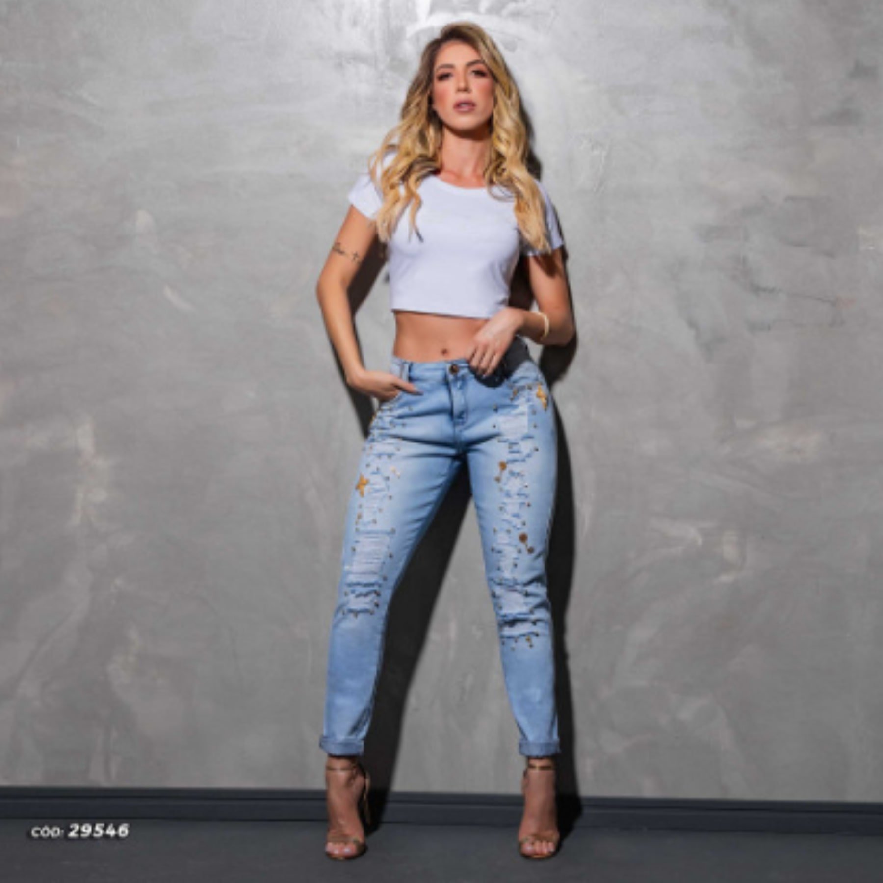 Calça Jeans Feminina Boyfriend Pit Bull Jeans