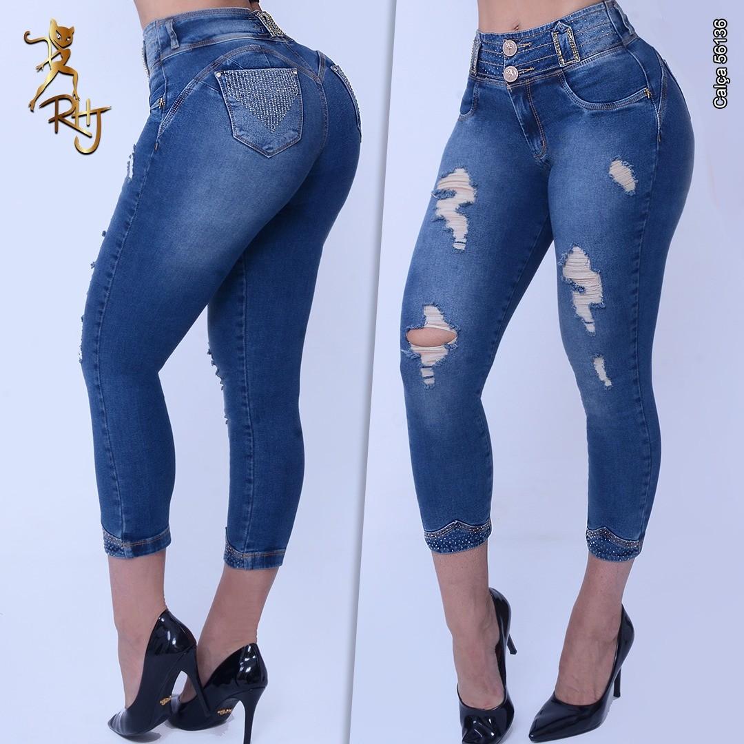 Calça Jeans Capri Modeladora Cintura Perfeita Rhero Jeans