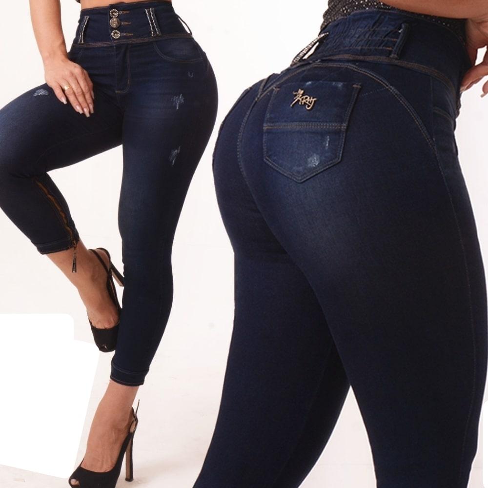 Calça Jeans Cropped  Modeladora Cintura Perfeita Rhero Jeans