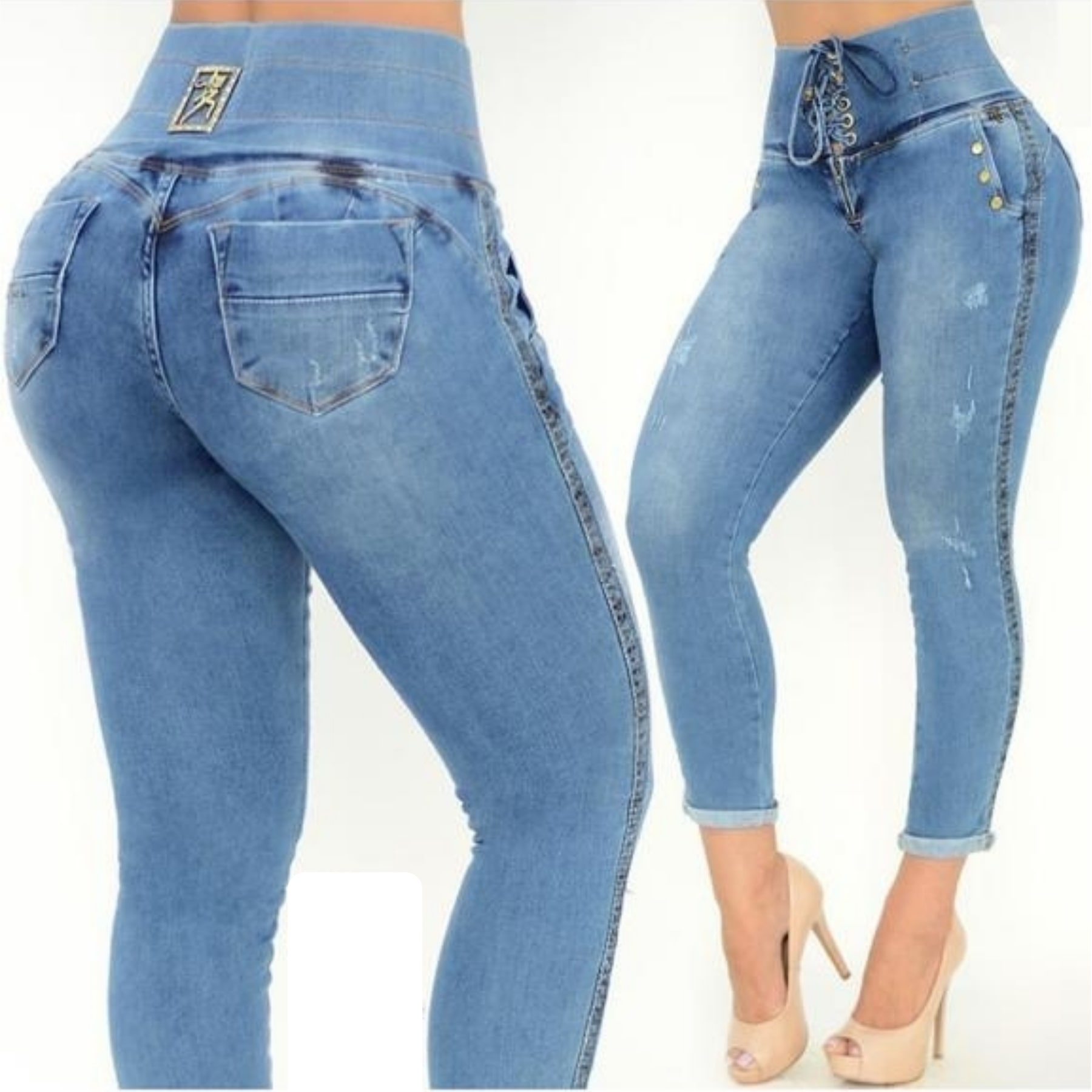 Calça Jeans Feminina Cropped Clochard Rhero Jeans
