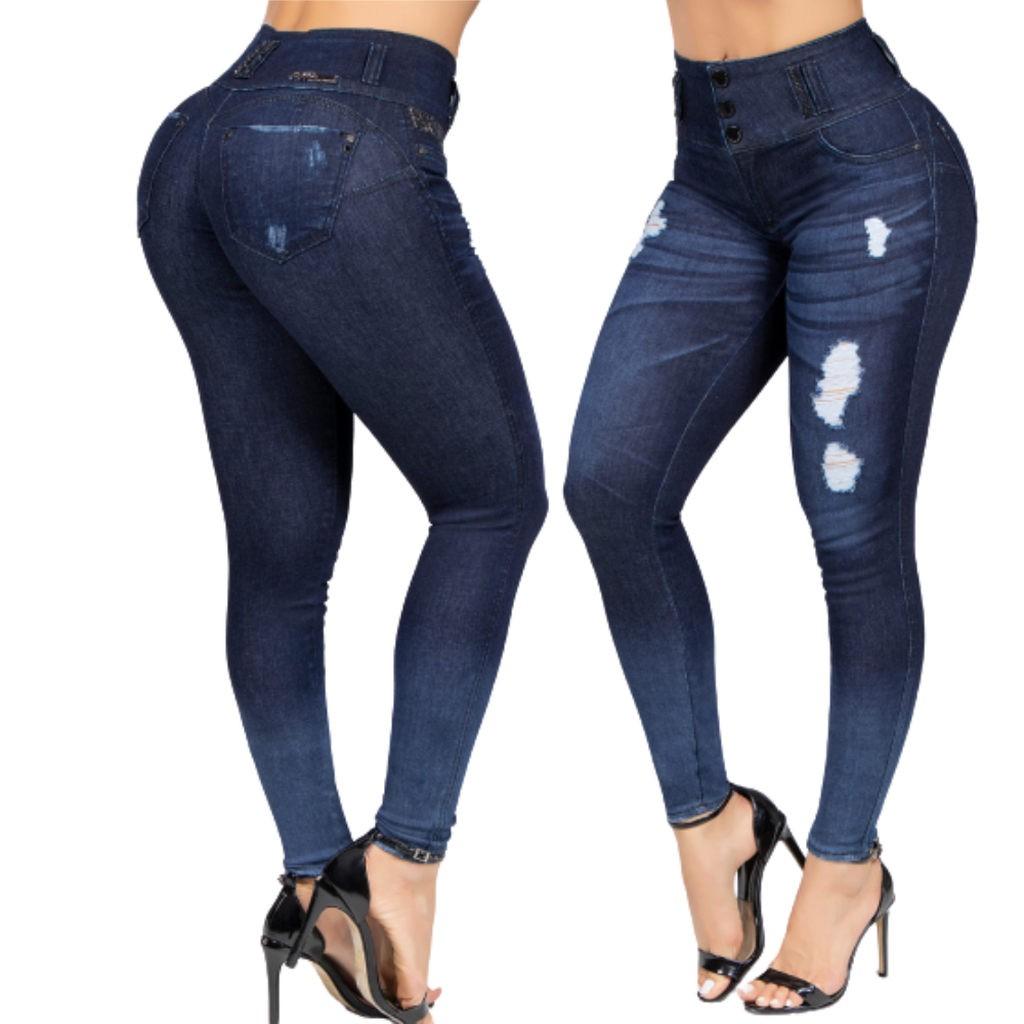 Calça Jeans Feminina Pit bull jeans Cintura Alta