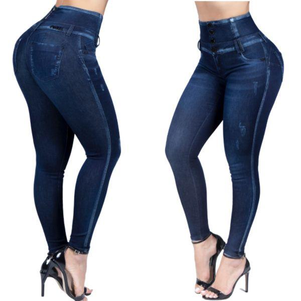 Calça Jeans Feminina Skinny Pit Bul Jeans Cintura Perfeita