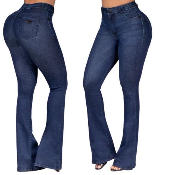 Calça Jeans Flare Feminina Pit bull jeans Cintura Alta