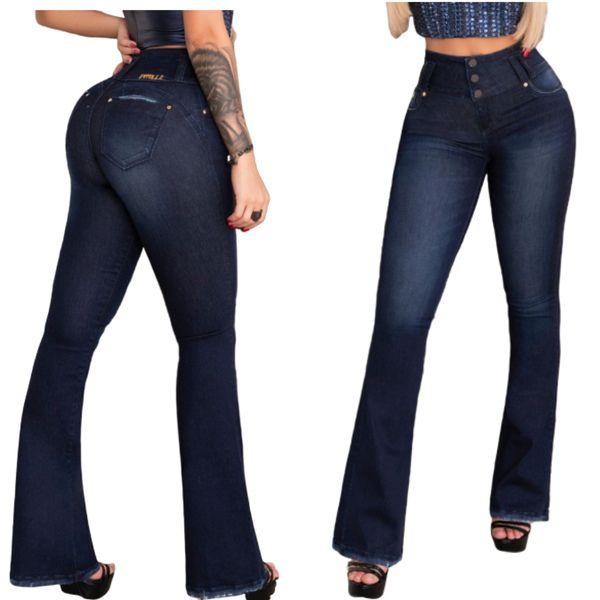 Calça Jeans Flare Feminina Pit bull jeans Cintura Perfeita