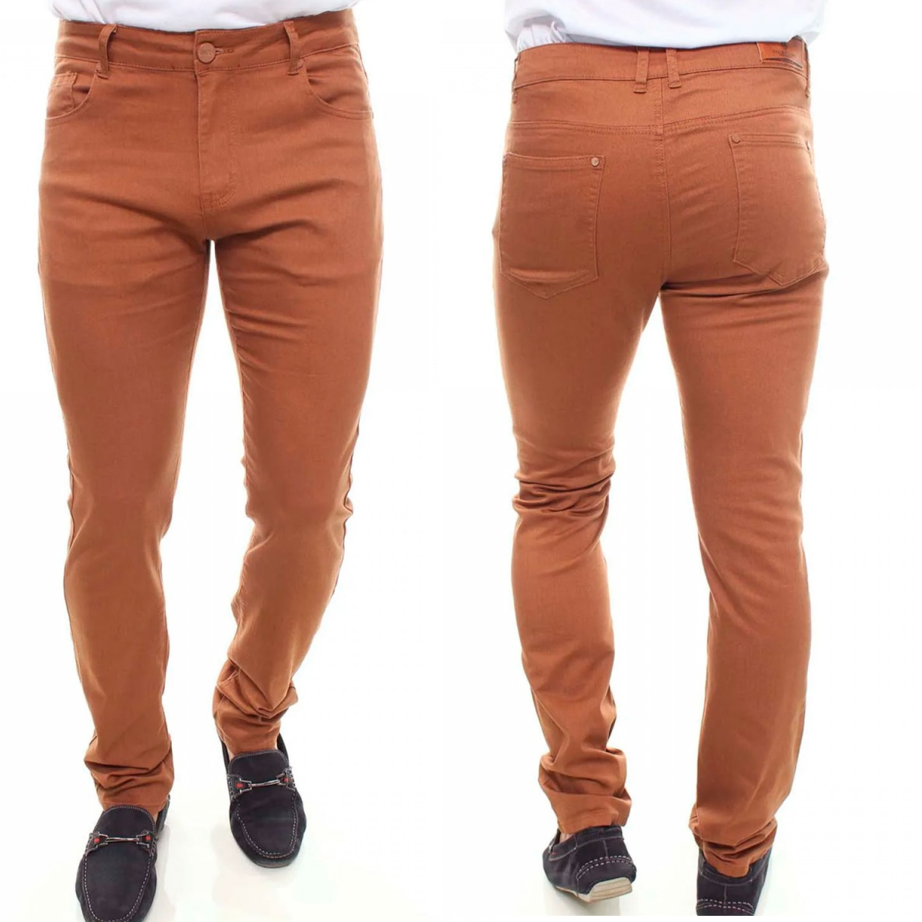 Calça Jeans Masculina Color Confort