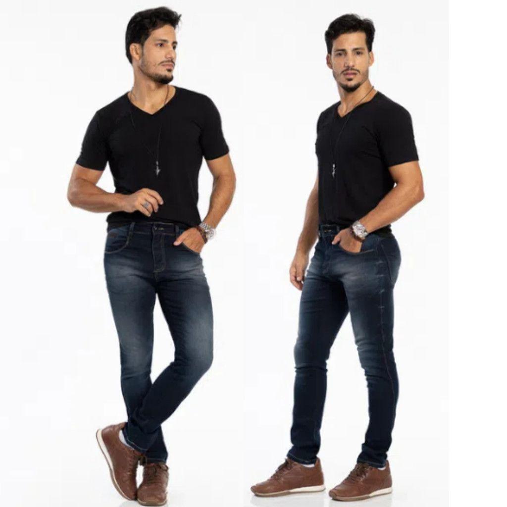 Calça Jeans Masculina Skinny Biotipo Escura