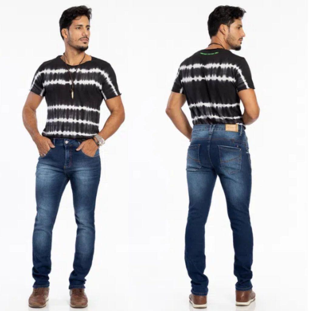 Calça Jeans Masculina Slim Fit Biotipo Escura