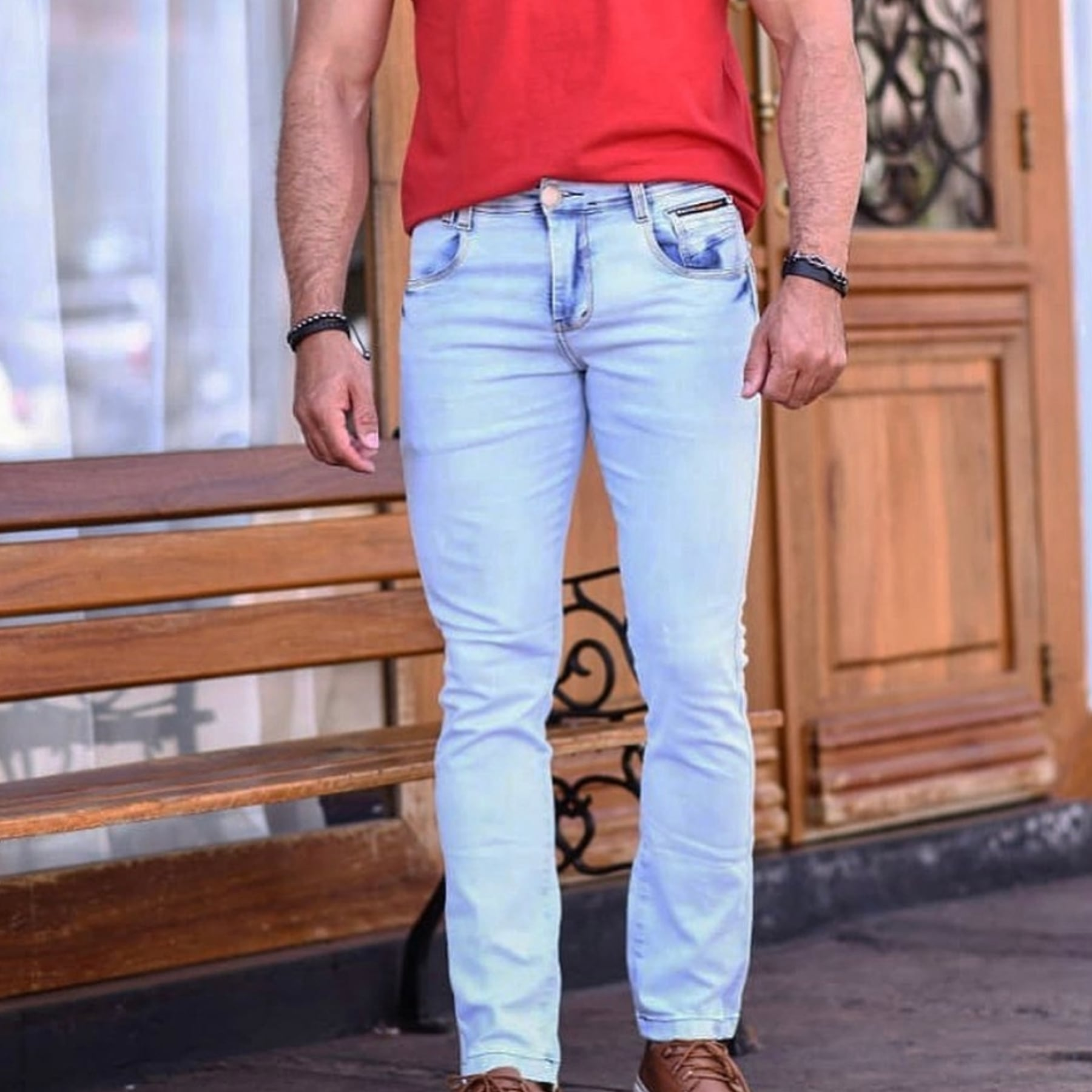 Calça Jeans Masculina Tradicional Claro Fenix Jeans
