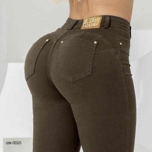 Calça jeans skinny color Marrom Pit Bull Jeans Ref 41292