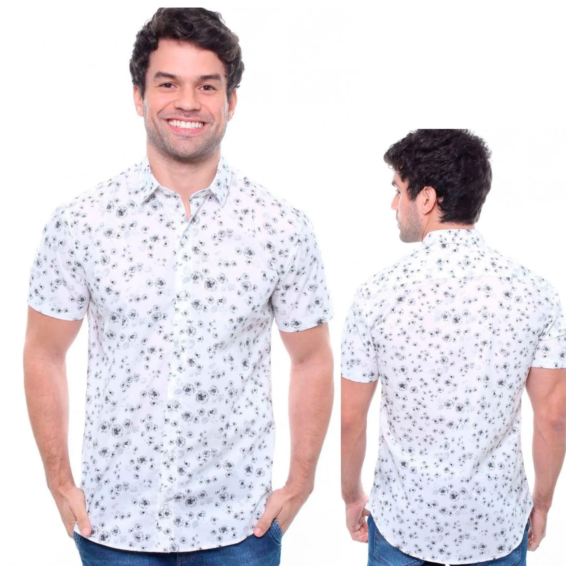 Camisa Masculina Manga Curta Crocker