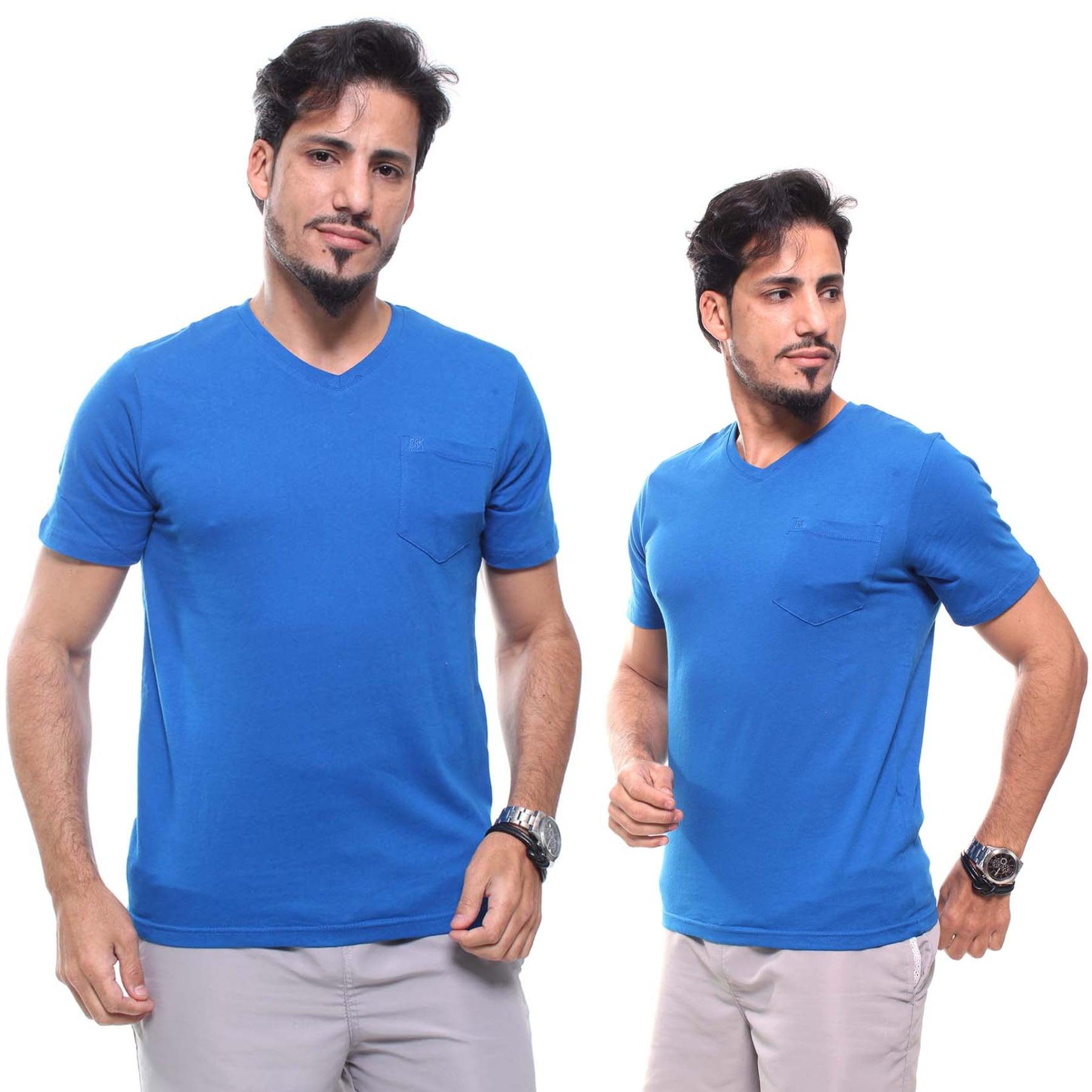 Camiseta Masculina Com Bolso Crocker  Azul