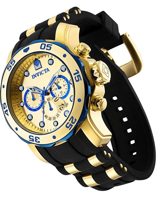 Invicta Pro Diver Scuba Relógio Masculino 48 mm Quartzo De Aço Inoxidável Com Pulseira De Silicone Preta Modelo 17887
