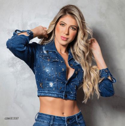 Jaqueta jeans feminina pedrarias Pit Bull Jeans