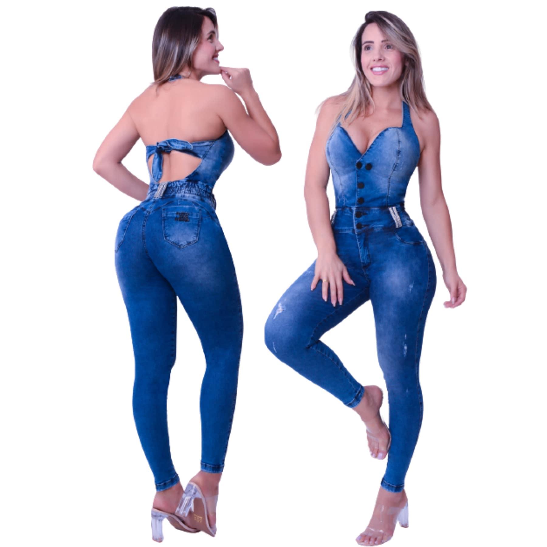 Macacão Jeans Feminino Cigarrete Rhero Jeans