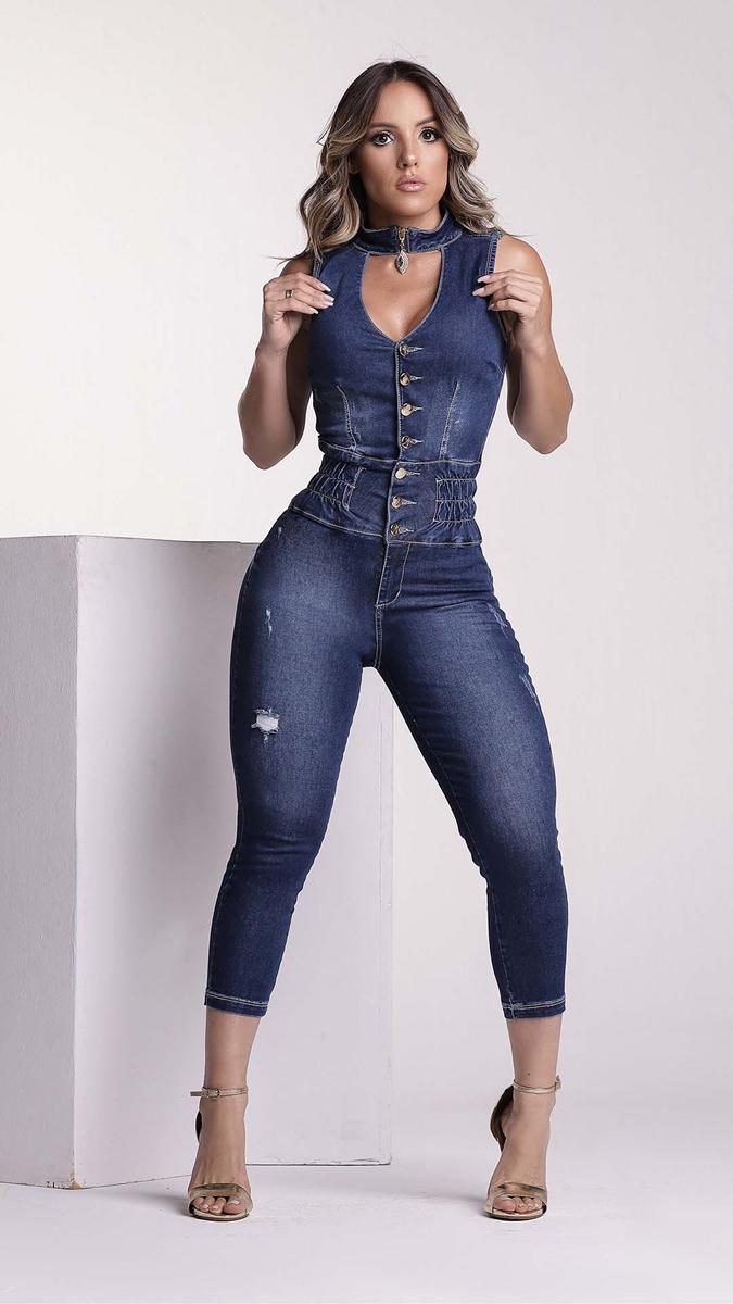 Macacão Jeans Feminino Rhero Jeans 56569