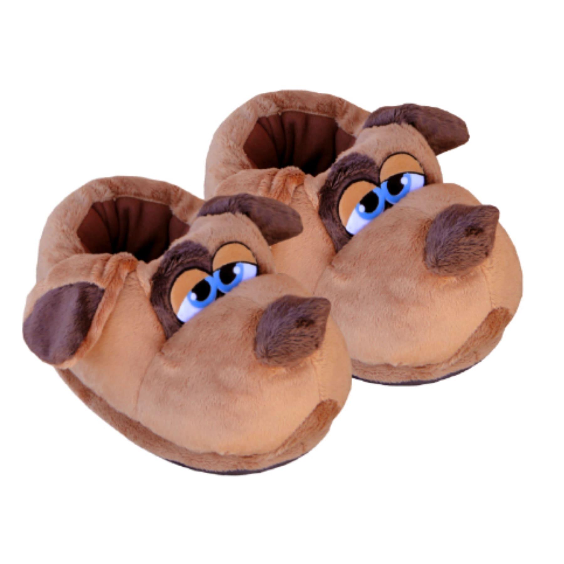 Pantufa 3D Personagem Cão Soneca Cor Marrom