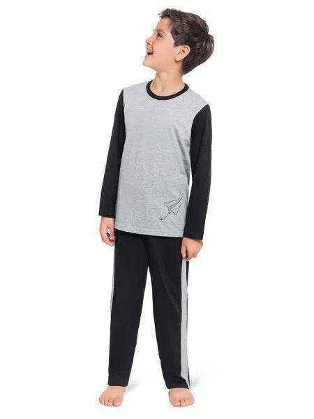 Pijama Masculino Infantil Freedom Manga Cumprida e Calça