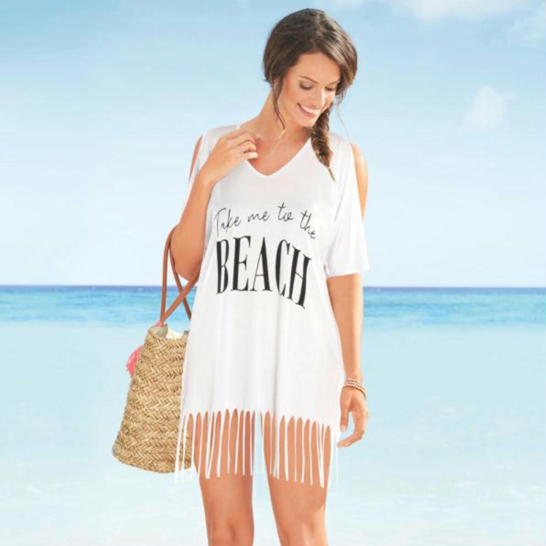 Saída de Praia com Franja Branca