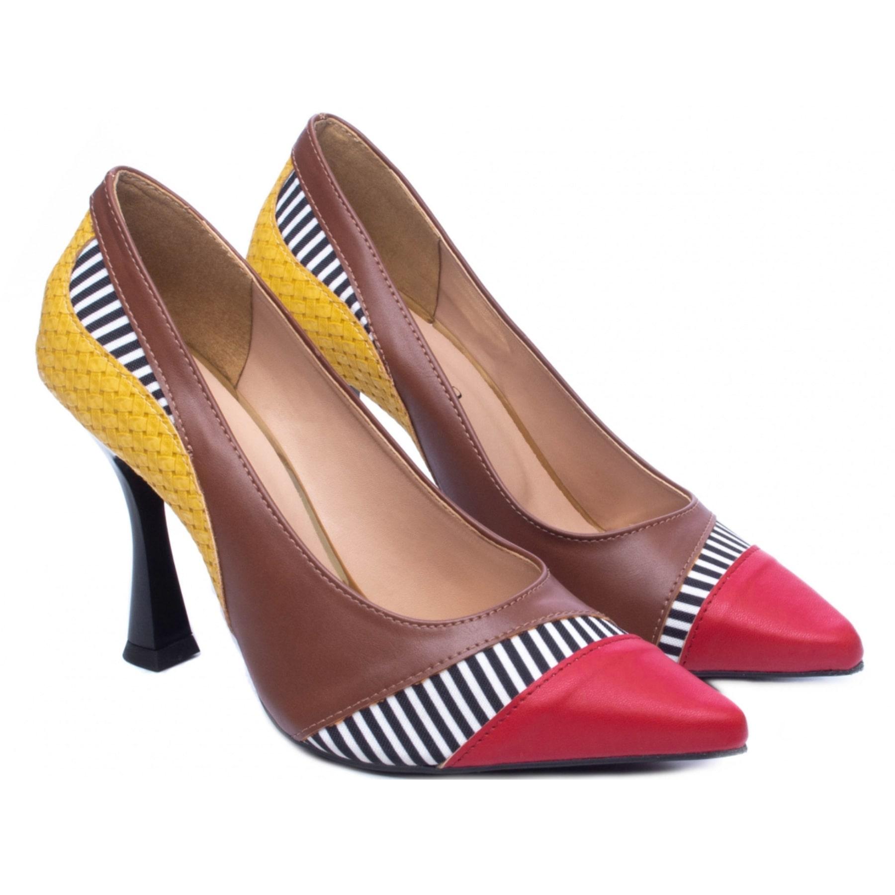 Scarpin Em Couro Napa Salto 9 Color Sapato Scarpin