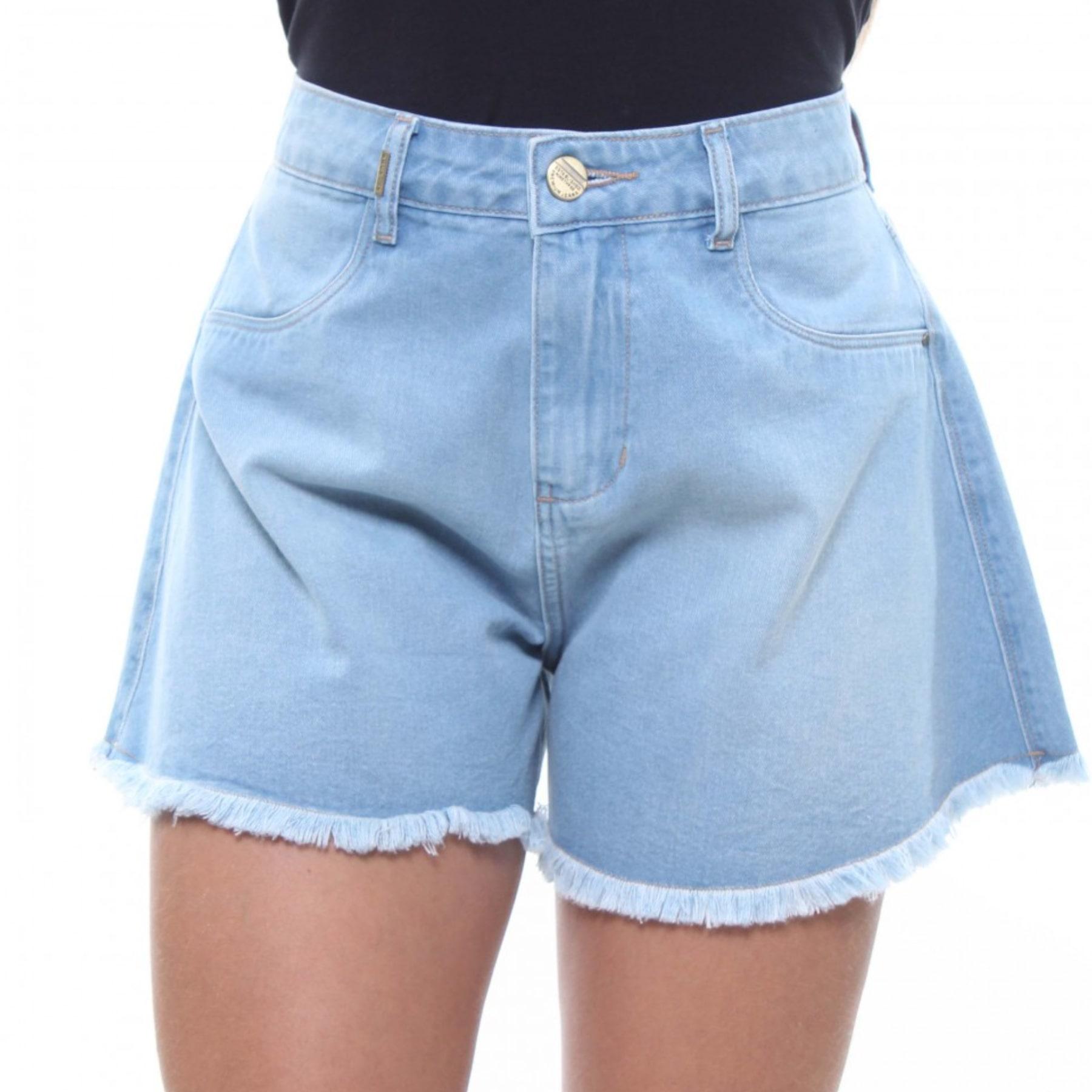 Shorts Jeans Feminino Flare Crocker Jeans Claro