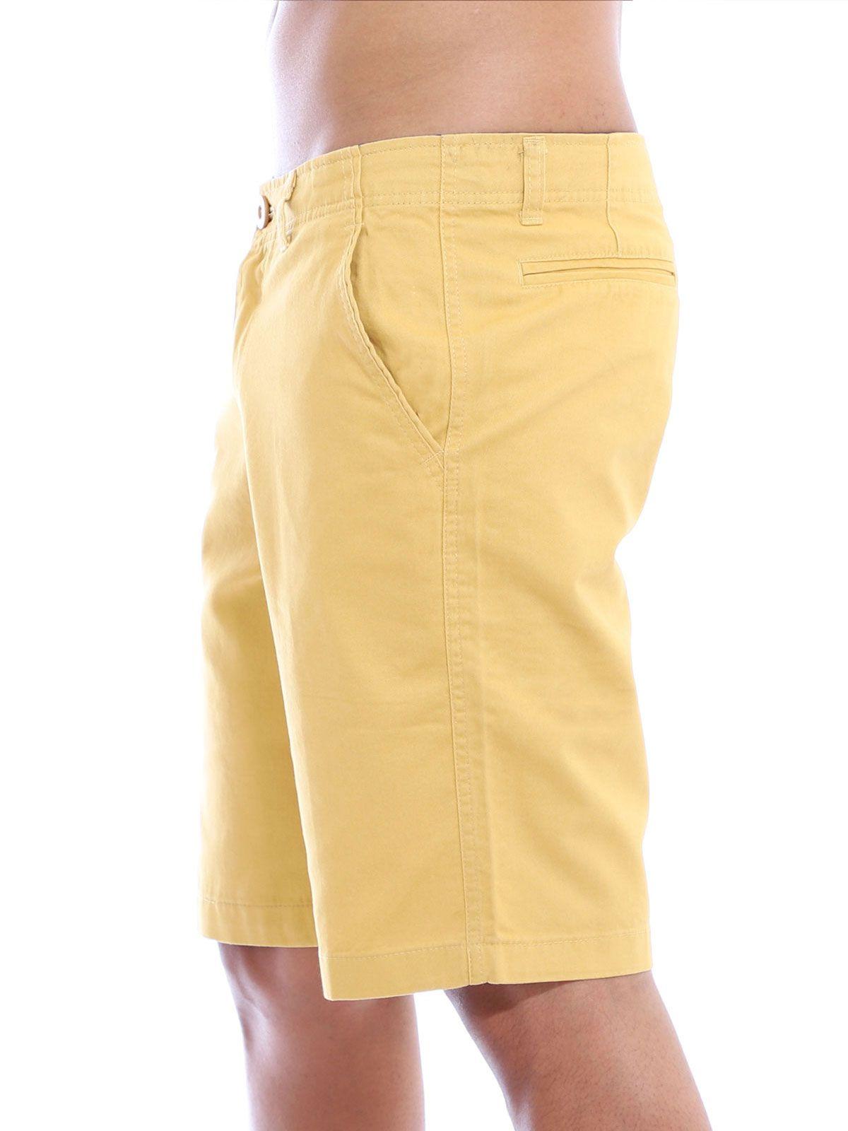 Bermuda Casual de Sarja Anistia Amarelo Queimado