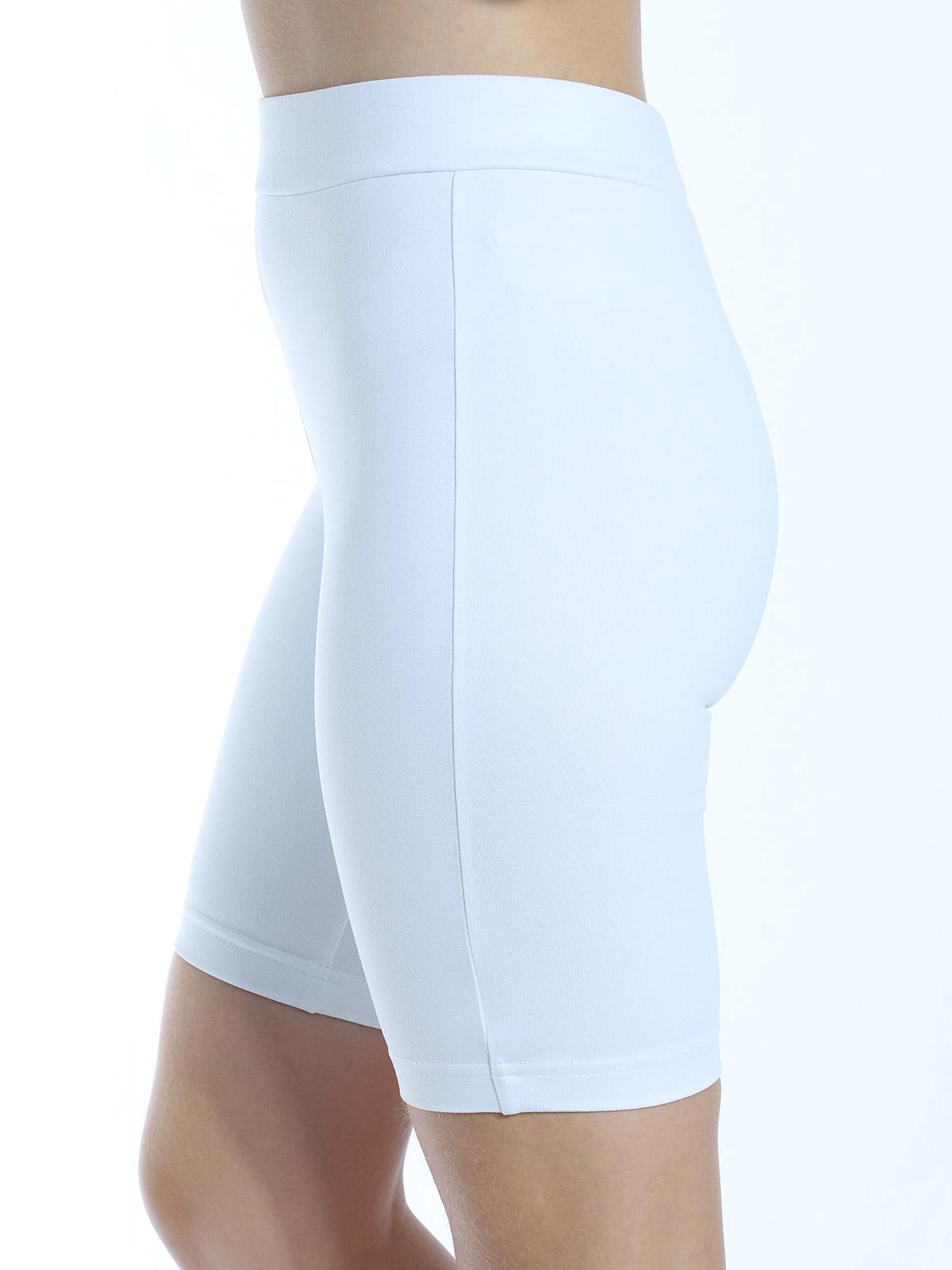 Bermuda Ciclista Feminina Fitness Academia Branco