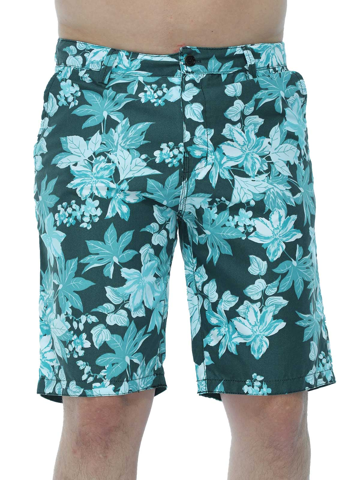 Bermuda Masculina Água Floral Estonada Anistia Verde