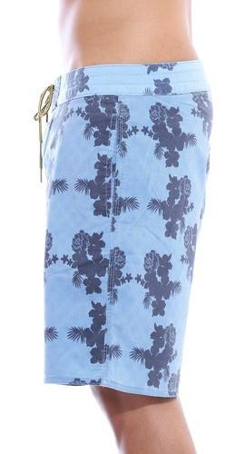 Bermuda Masculina Estampada Floral com Elastano Anistia Azul