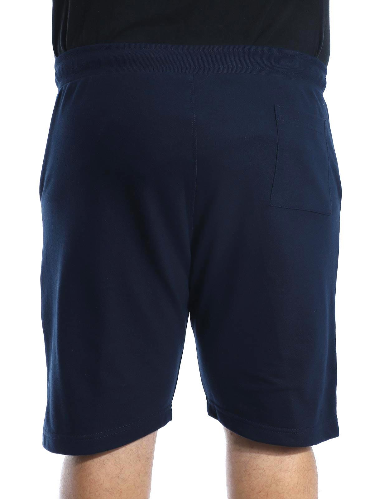 Bermuda Plus Size Masculina de Moletom Academia Marinho
