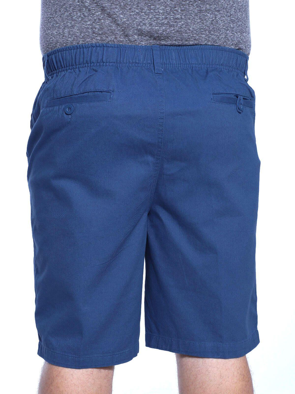 Bermuda Plus Size Anistia Sarja de Elástico Azul Jeans