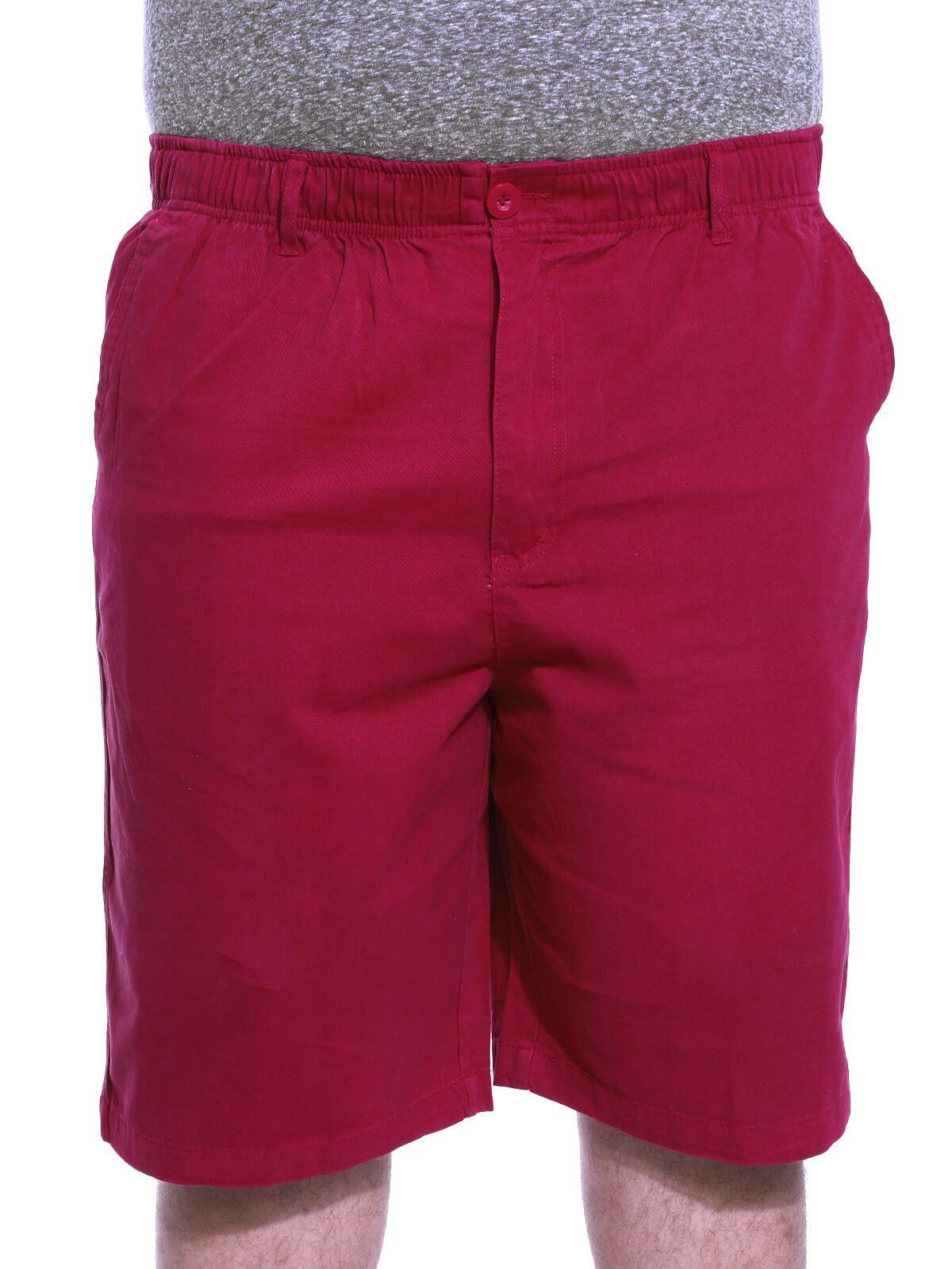 Bermuda Plus Size Masculina Sarja Com Elástico Vermelho