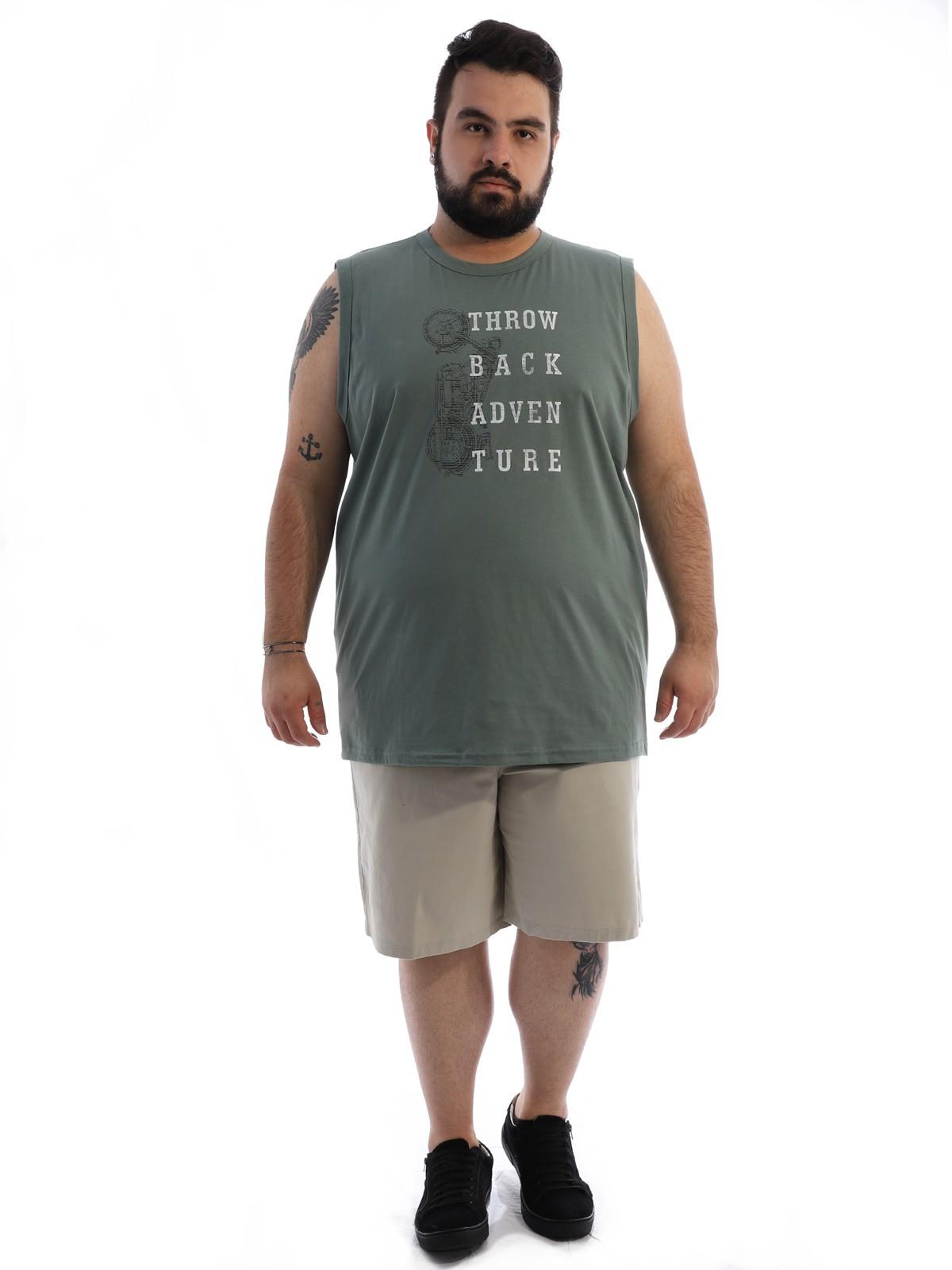 Bermuda Plus Size Masculina com Stresh Cós Elástico Areia