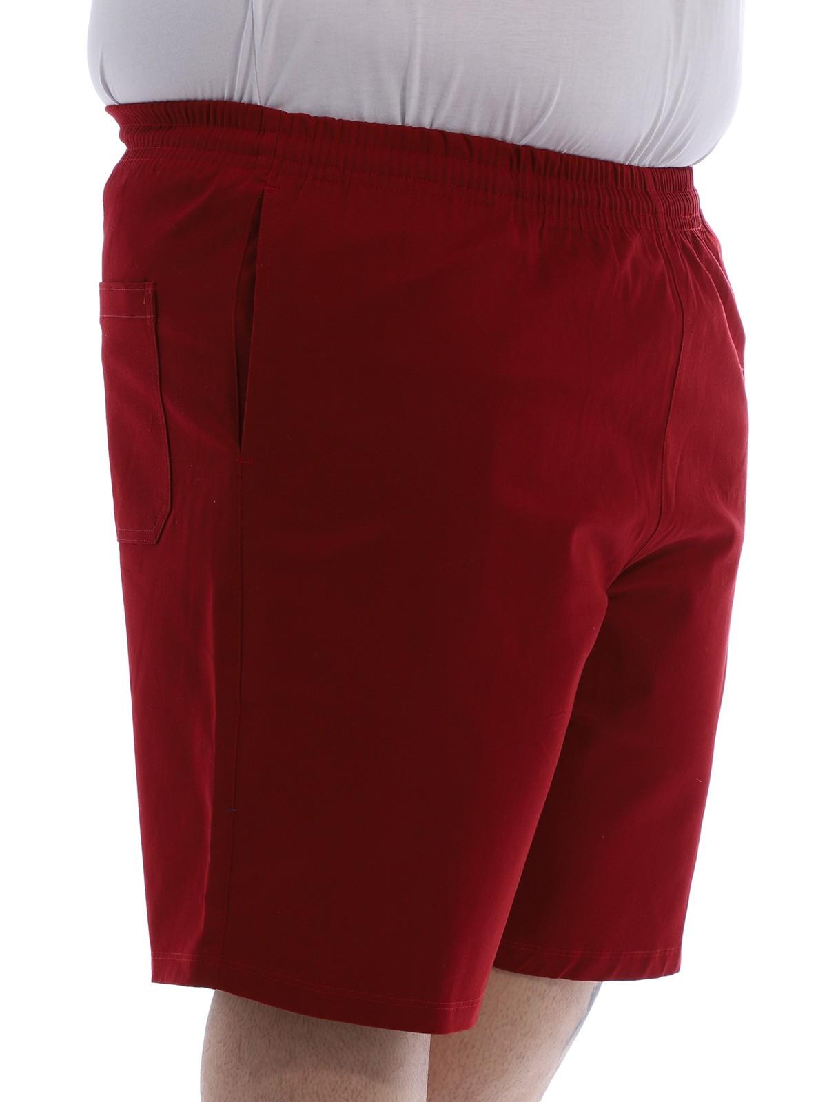 Bermuda Plus Size Masculina com Stresh Cós Elástico Vermelho