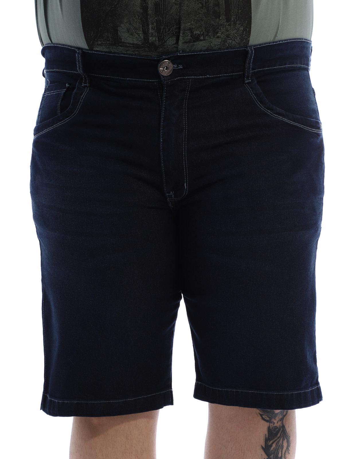 Bermuda Plus Size Masculina Jeans Stone
