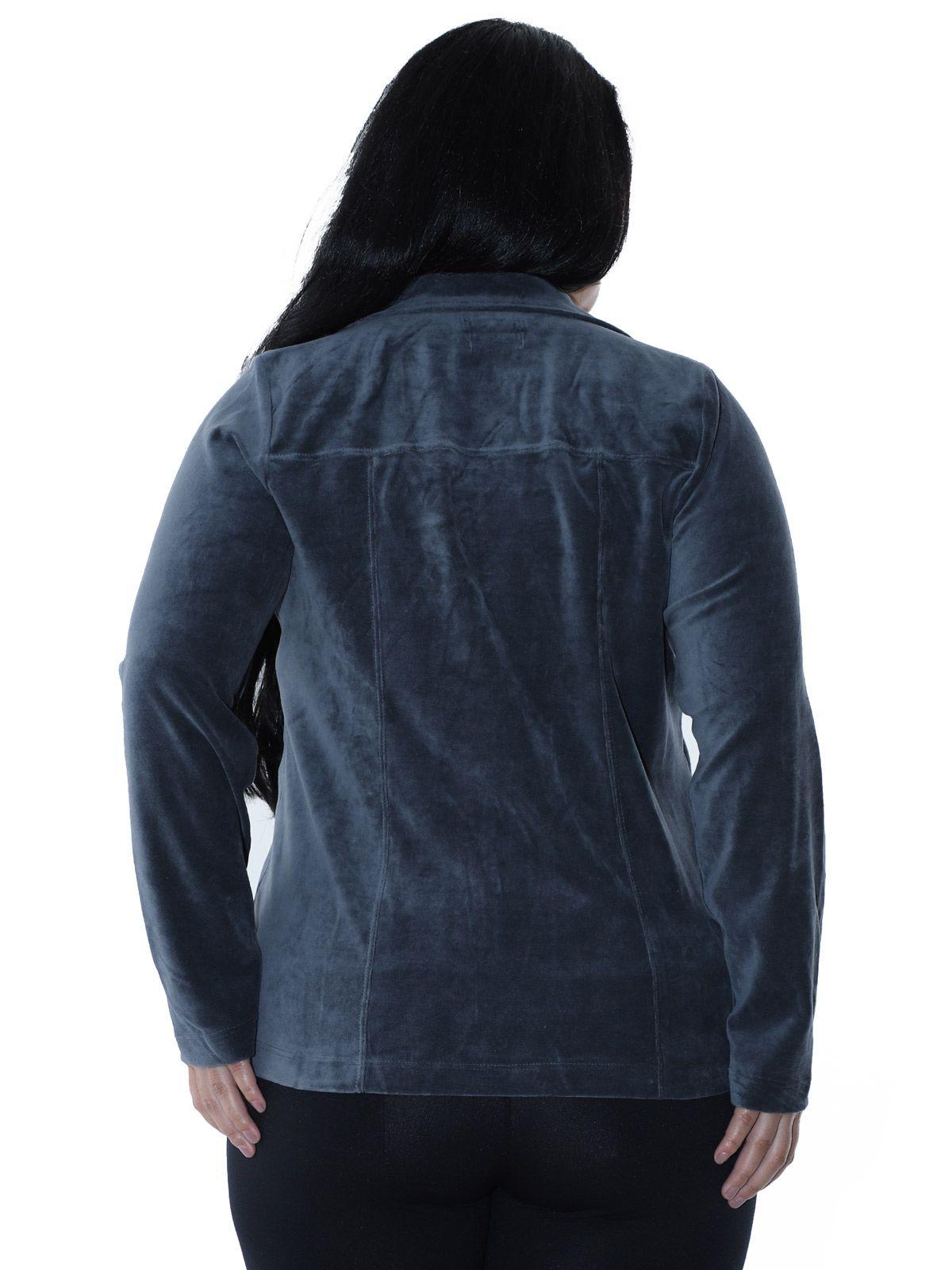 Blazer Plus Size de Plush Cinza