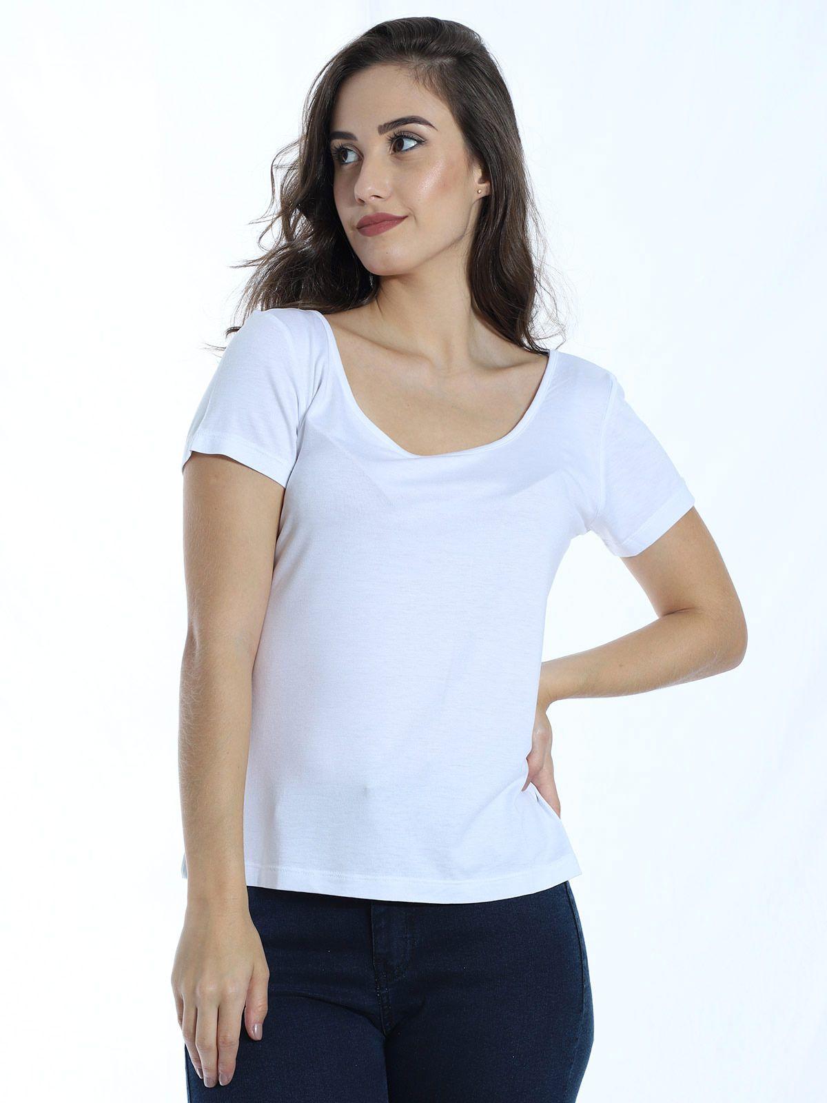 Blusa Anistia com Detalhe de Renda nas Costas Branco