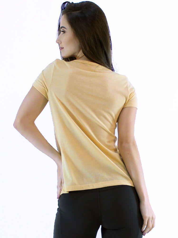 Blusa Anistia com Renda de Guipir Amarelo
