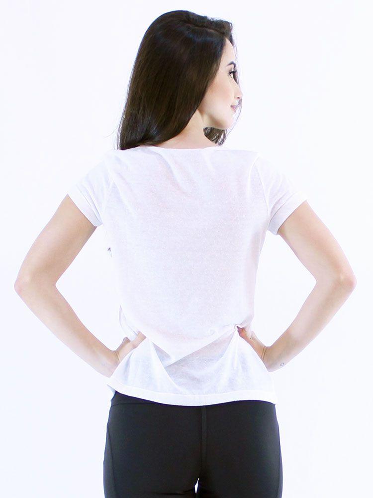 Blusa Anistia com Renda de Guipir Off White