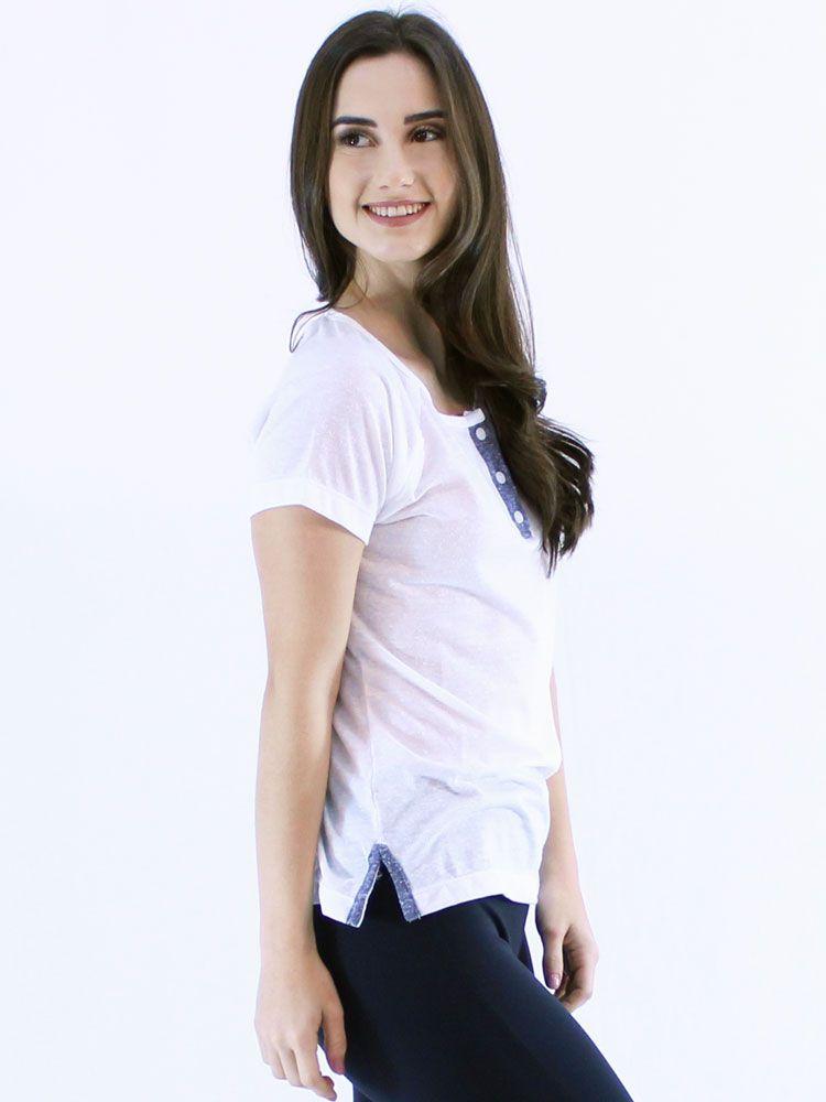 Blusa Anistia Longuete com Vista Branco
