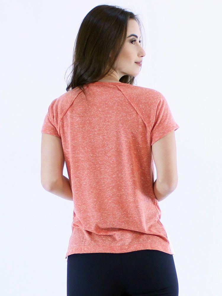 Blusa Anistia Longuete com Vista Terracota