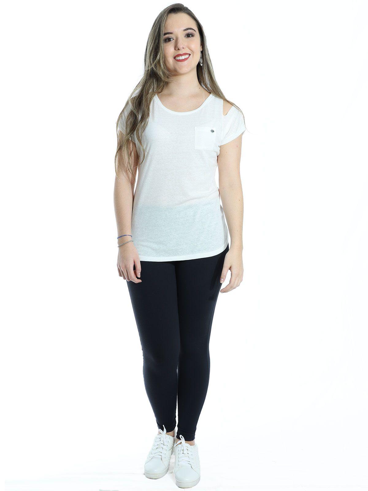 Blusa Anistia Recortes Ombro Off White